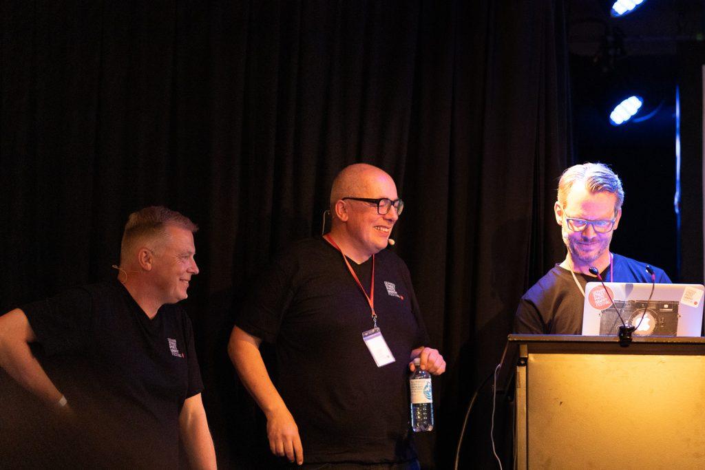 Die Organisatoren: Siegfried Hansen, Martin U.Walz und Marco Larousse (v. l. n. r)
