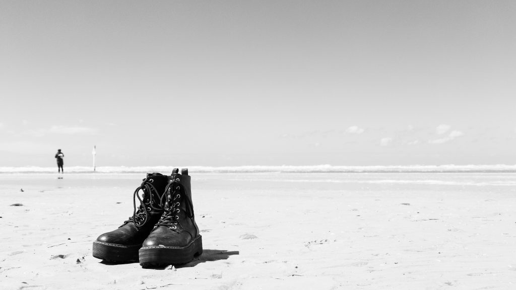 Schuhe am Strand in St. Peter Ording