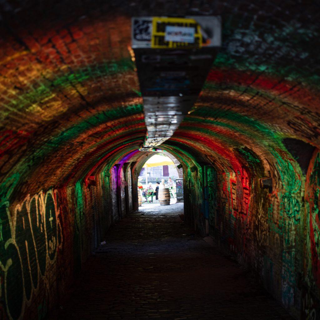 Historischer Tunnel in Utrecht